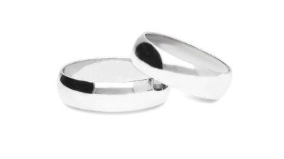 Obrączki klasyczne: Półokrągłe białe 5,5mm